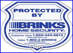 100 Brinks Home security sticker for wall window door burglar protect safe home