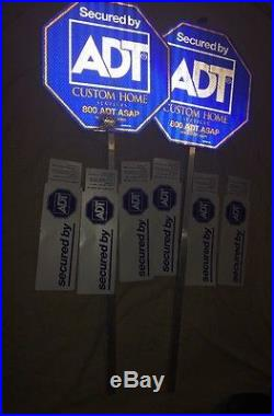 2 Adt Home Security Yard Signs 6 Double Sided Sticker Free Shipping New