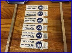 2 NEW ADT Lawn Sign's + 6 Burglar Alarm Sticker Door Window Home Security