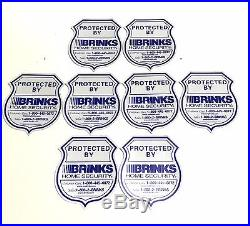 2 Sign + 8 Pack Brinks Security Home Alarm Sign Adt'l Reflective Decal Stickers
