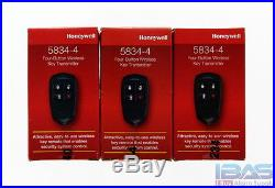 3 Honeywell Ademco ADT 5834-4 Alarm Security System Wireless Remote Control Key