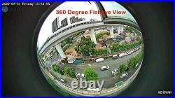 3MP Outdoor Home Security IP 360 Degree Fisheye Camera DCSEC POE Camera, Motio