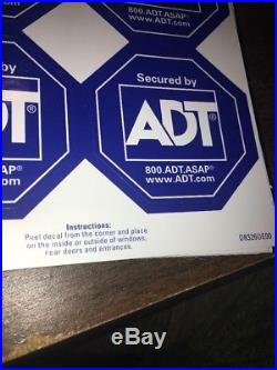 41 Secured By ADT Alarm Security Stickers New 4 Pack