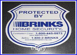 60 Brinks Home security sticker for wall window door burglar protection safehome