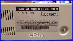 ADT 8 Channel CCTV DVR 500GB, H. 264, DVD-RW, BNC Inputs (A-ADT8H-500)