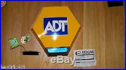 ADT Dummy Alarm Solar Panel LED burglar HOUSE Flashes LED x 1