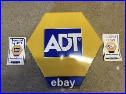 ADT Dummy Solar Powered Burglar Alarm Box With Stickers