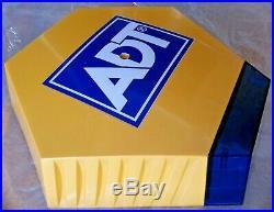 ADT Solar LED Flashing Alarm Bell Box Decoy Dummy Kit +Bracket + Battery Ref 3