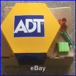 ADT Solar LED Flashing Alarm Bell Box Dummy Kit. + Bracket And Battery