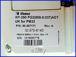 ADT Visonic Keypad KP 250 PG2 for ADT Powermaster 33 P/N 90-207171 ID 375-6140
