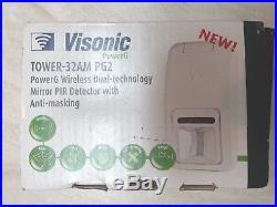 ADT Visonic Tower 32AM PG2 Wireless Dual Technology PIR 90-204857 ID150-2712