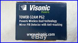 ADT Visonic Tower 32AM PG2 Wireless Dual Technology PIR 90-204857 ID150-6208