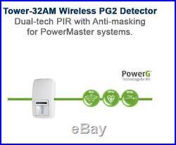 ADT Visonic Tower 32AM PG2 Wireless Dual Technology PIR 90-204857 ID150-6379