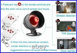 Alarm System Speaker Security Home Alarm Motion Detector Window Door Sensor Kit