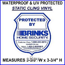 BULK 75 LOT OF BRINKS ADT Home Auto Security System Warning Sticker Decals