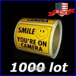 Bulk Security Item Wholesale Lot Video Camera Window Warning Sticker Sign Decals