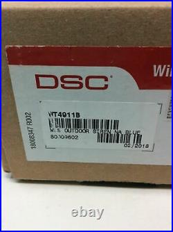 DSC SECURITY WIRELESS OUTDOOR WT4911 WT4911B SIREN MODULE With BLUE STROBE ALARM