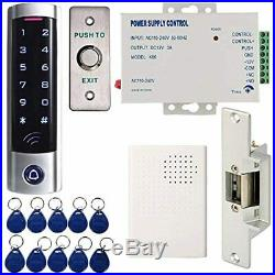 HWMATE Full Complete Access Control System Kit With Touch Keypad Power Supply St