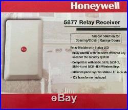 Honeywell 5877 Relay Receiver Control Garage Door Lynx Vista ADT
