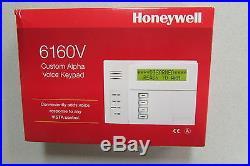 Honeywell ADT 6160V Custom Alpha Talking Voice Keypad Vista Alarm NIB Free Ship