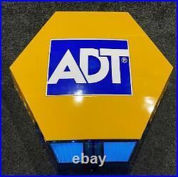 LATEST NEW STYLE ELMDENE ADT Dummy alarm box solar flashing TWIN LEDs & Battery