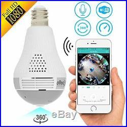 Light Camera Security 1080p WiFi Wireless Smart spy Bulb Camera Home Security