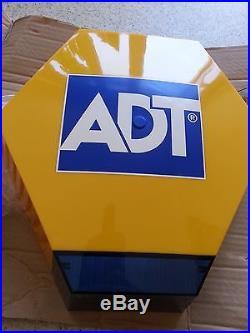 New Adt Alarm Bell Box Dummy Kit Solar Led Flash Panel