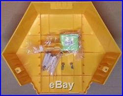 NEW STYLE ADT Solar LED Flashing Alarm Bell Box Decoy Dummy Kit + Battery Ref B