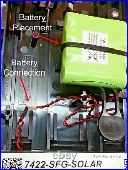 NEW STYLE ADT TWIN LED Flashing 7422 SFG Solar Decoy Bell Box Dummy Kit +Battery