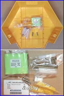 NEW STYLE ADT TWIN LED Flashing Solar Decoy Bell Box Dummy Kit + Battery (SFG-4)