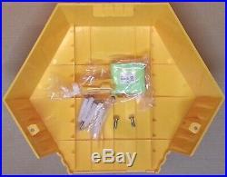 NEW STYLE ADT Twin LED Flashing Solar Decoy Bell Box Dummy Kit + Battery (New4)