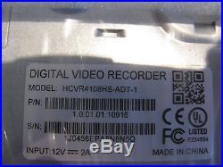 New ADT HCVR Digital Video Recorder 1000GB 8 Channel HCVR4108HS-ADT-1