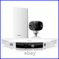 Panasonic KX-HN7002W HomeHawk Outdoor Wireless Smart Home Security 2 Camera Kit