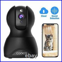 Pet Dog Camera, Conico 1080p Wireless IP Home Security Camera WiFi (Black2)