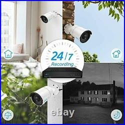 Reolink 8CH 5MP PoE Home Security Camera System, 4pcs Wired 5MP Outdoor PoE IP C