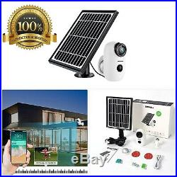 Solar Powered Wireless Home Security System, 1080P Outdoor WiFi Camera Surveilla