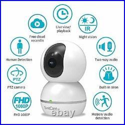SpotCam Eva 2 Wireless Home Security Camera, 1080p FHD, Indoor, Night Vision, Tw