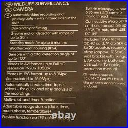 Survailance Camera Wildlife Full HD Home Security Audio Video Photo