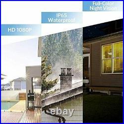 TENVIS Outdoor Security Camera with Flood Light 1080P Home Surveillance Camera