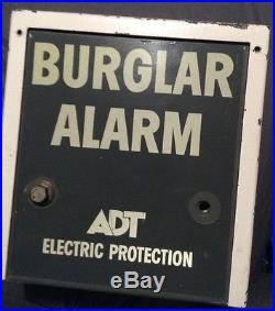 Vintage ADT Burglar Alarm Bank Bell Box