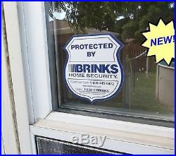 Wholesale Sticker decal for home business hotel windows BRINKS security Bulk Lot