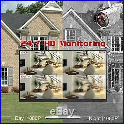 YESKAMO1080P HD Outdoor Wireless Security Camera System with 4 Home WiFi