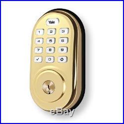 Yale Security YRD216NR605 Keypad Deadbolt, Polished Brass
